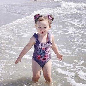 低至5折Deux par Deux 沙滩小精灵可爱时尚泳衣  $26.6收连体红色海鸟款