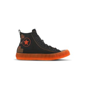 Converse 橙底黑面高帮鞋