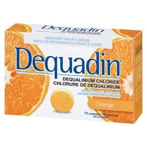 $3.99收橙子润喉糖Dequadin 16粒装润喉糖 缓解口腔溃疡 咽喉疼痛