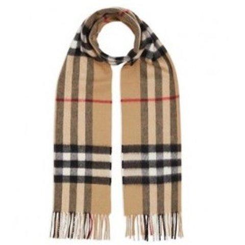线上折扣+额外7.5折 £281收封面围巾11.11独家:Burberry 精选经典围巾、包包热促