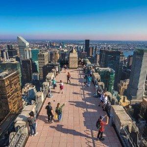 仅$41 360°无边框玻璃最强观景位纽约洛克菲勒中心顶层观景票好价热卖