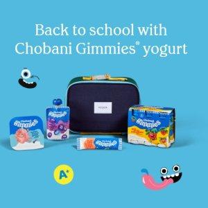 Free Lunchbox and YogurtBack to school with Chobani Gimmies yogurt