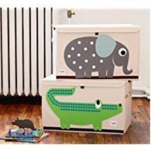 $16.98(原价$24.99)3 Sprouts 可爱绿色鳄鱼款玩具收纳箱