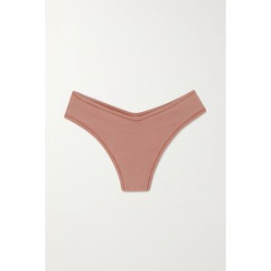 SKIMSCotton Collection 2.0 cotton-blend jersey thong - Rose Clay
