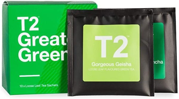 T2 Tea 小啜绿叶什锦茶礼盒,