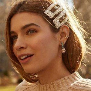 6件套 $6.99KRENDR 珍珠发卡热卖 迪士尼在逃公主风