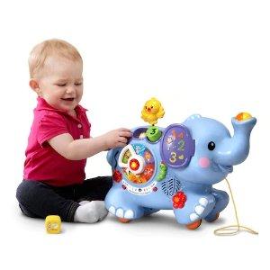Vtech益智小象玩具拉車