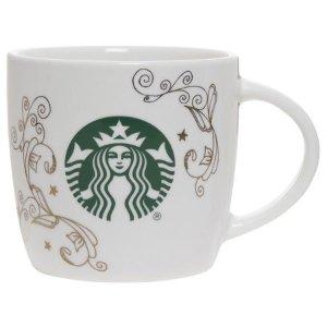 StarbucksCeramic 14 Ounce White Swirl Mug