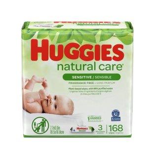 Huggies婴儿湿巾3包共168片 低敏不刺激