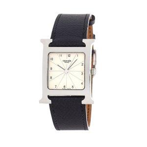Hermes二手单品经典皮链手表