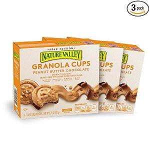$6.65 包邮Nature Valley Peak Edition 燕麦营养杯 花生酱口味 1.35 oz. 15个