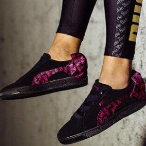 $25Puma x Barbie 合作款麂皮蝴蝶结女鞋