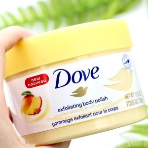 $5.59(shoppers $8.99)白菜价:Dove 冰淇淋身体磨砂膏298g 清新芒果杏仁香