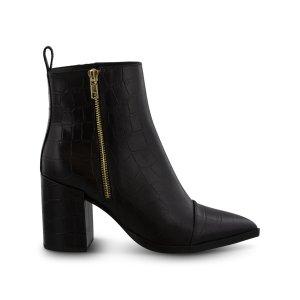 Tony BiancoBelle Black Croc 短靴