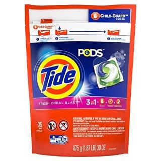 $6.99Tide Pods Detergent Pacs, Coral Blast Scent, 35 Count @ Amazon