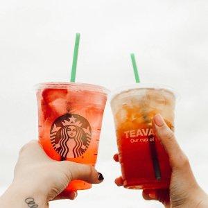 7月12日下午2点后限今天:Starbucks 星巴克 周四Happy Hour 任意size冰茶饮半价
