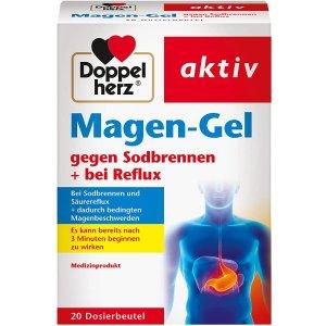 20包仅€6.97Doppelherz 双心 胃灼烧、胀气、胃反酸舒缓口服凝胶 中和胃酸