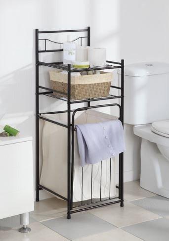 多功能浴室收纳架 含洗衣筐