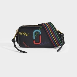Marc Jacobs Snapshot New York Mag Bag in Black Leather