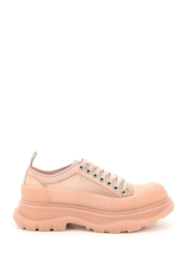蜜桃粉厚底鞋