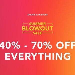 40% -70% Off EverythingTrue Religion Summer Blowout Sale