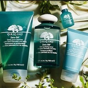 20% Off + Free 5-pc GiftLast Day: Origins Zero Oil Collection Sale