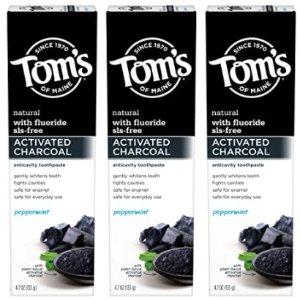 Tom's of Maine 活性炭美白含氟牙膏 4.7 oz. 3支装