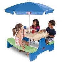 Little Tikes 儿童6人可折叠桌椅