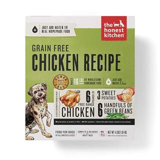 $33.43(原价$44.58)闪购:The Honest Kitchen 人食用级脱水狗粮 鸡肉味 4磅