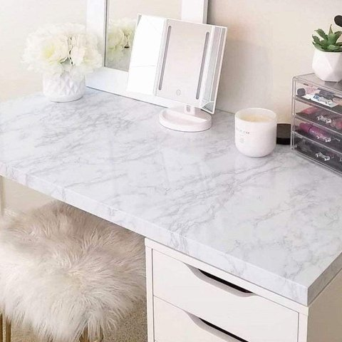 practicalWs Marble Paper Granite Gray/White Roll
