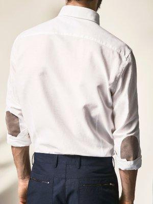Massimo Dutti 补丁纯棉衬衫