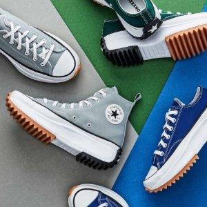 低至5折+额外8折 £11入经典帆布鞋Covnerse 季末大促 夏季印花、Chuck 70 新配色超低价