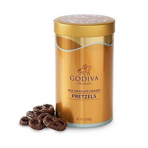 铁罐装牛奶巧克力pretzels 1磅装