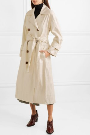 REJINA PYO   Oli crinkled-vinyl trench coat   NET-A-PORTER.COM