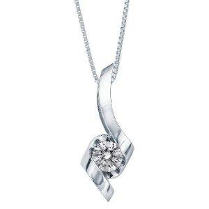 Helzberg DiamondSirena® 1/2 ct. tw. Diamond Pendant in 14K White Gold