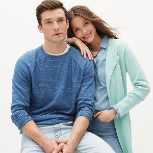 低至3折+清仓区额外3折2020跨年礼:J.Crew Factory $20收复古毛衣 $8收格子衬衣