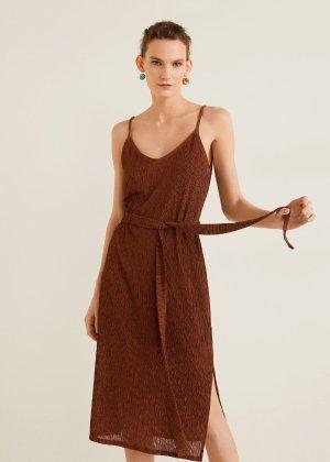 Textured midi dress -  Women | Mango USA