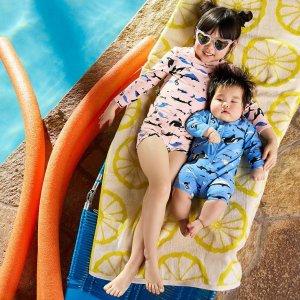 2.5折起+部分产品额外8折折扣升级:Hanna Andersson 儿童泳衣促销,日晒和泡海水不褪色