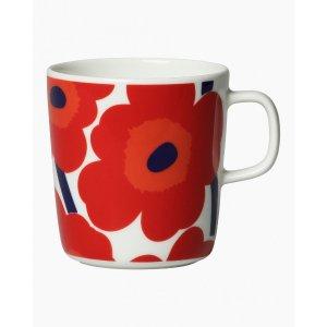 马克杯 4 dl - white, red - All home items - Home - Marimekko.com
