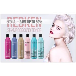 顶级护发 Redken 500ml超大瓶装洗发水 低于5折!火速收!