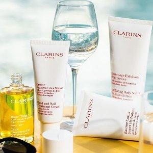 任意单免邮+送好礼Clarins 全场美妆产品热卖 收双萃精华