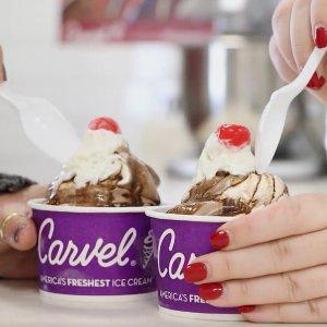 Buy 1 Get 1 FreeCarvel Ice Cream Wednesday is Sundae Sale