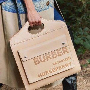 3折+额外85折 €104收卡包Burberry 超强上新 收经典大衣、气质水桶包 通勤必备