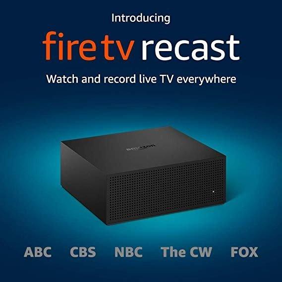 Fire TV Recast 数字视频录像机 500GB 可同时录制2个频道,75小时HD视频