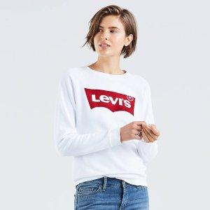 低至4折 logoT恤€16Levi's 平价美衣闪促 轻松变身校园里最靓的崽