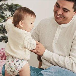 尿布组合首单减$20 新款更柔软The Honest Company 新款免溢漏环保婴儿纸尿裤促销 安全更安心