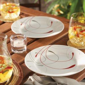 $64.97 (原价$118.52)史低价:Corelle 康宁4人组精美餐具16件套  耐用不易碎