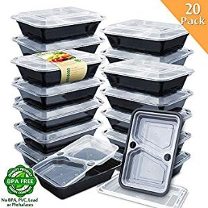 Amazon.com: Enther Meal Prep Containers [12 Pack] Single 1 Compartment with Lids, Food Storage Bento Box | BPA Free | Stackable | Reusable Lunch Boxes, Microwave/Dishwasher/Freezer Safe, Portion Control (28 oz): Kitchen & Dining