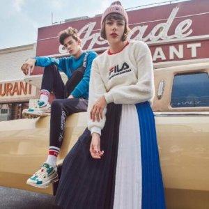 4折起+额外7.5折 多款老爹鞋最后一天:Fila 运动鞋服 时尚混搭可盐可甜 经典T恤多种穿法