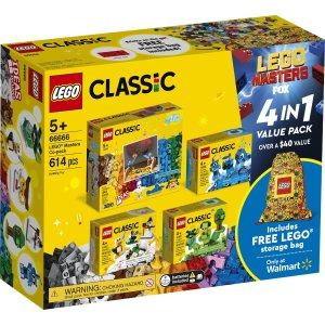 Lego大师限定拼砌包 66666 含整理袋
